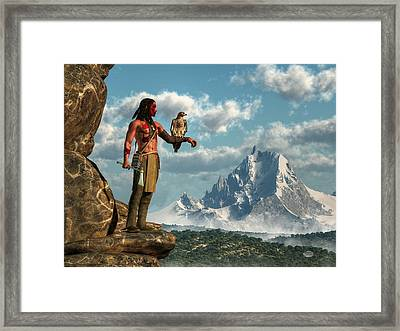 Hawk Warrior Framed Print by Daniel Eskridge