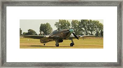 Hawker Hurricane Taxing Framed Print
