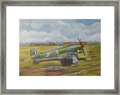 Framed Print featuring the painting Hawker Tempest by Murray McLeod