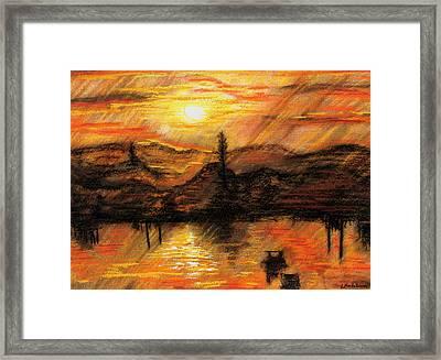 Hawkes Nest Sunset Australia Framed Print