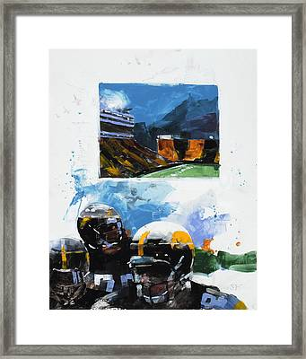 Hawkeye Kinnick Framed Print by Stan Fellows