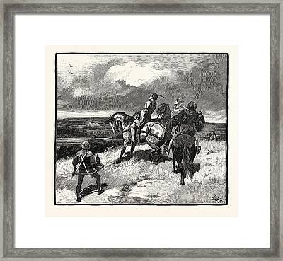 Hawking Party In The Eleventh Century Framed Print
