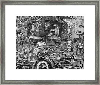 Hawkins Mill Bird Dog In Grey Type Framed Print by Phil Jackson