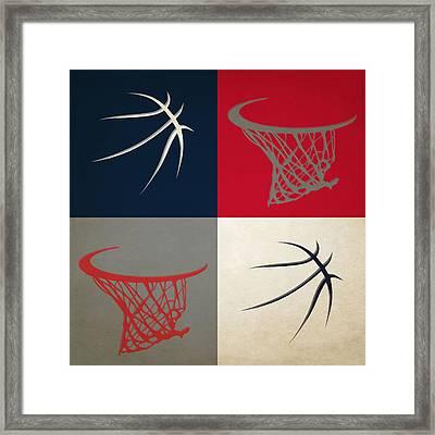 Hawks Ball And Hoop Framed Print by Joe Hamilton