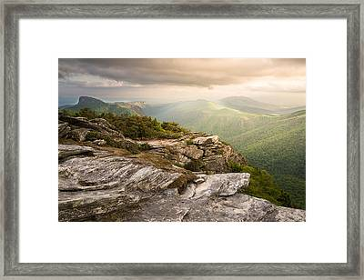 Hawksbill Mountain Sunset Framed Print