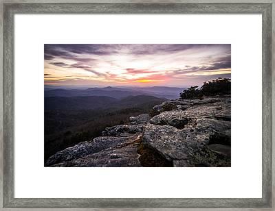 Hawksbill Sunrise Framed Print