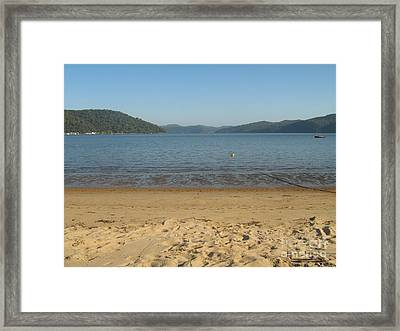 Framed Print featuring the photograph Hawksbury River From Dangar Island by Leanne Seymour