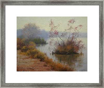 Hawksbury River Painting Framed Print by Graham Gercken