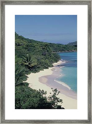 Hawksnest Beach And Bay Framed Print