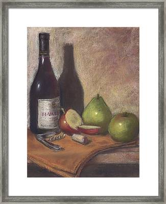 Hawley Wine Tasting Framed Print by Ellen Minter
