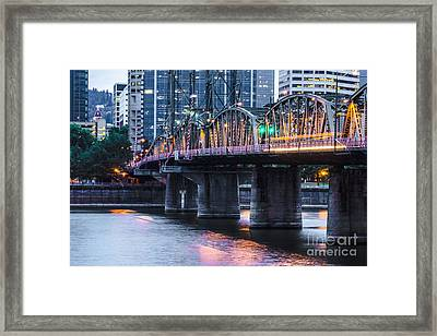 Hawthorne Bridge Portland Oregon Framed Print by Patricia Babbitt