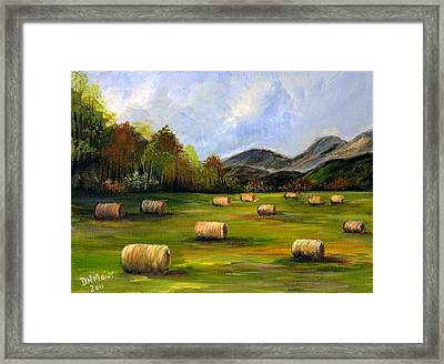 Hay Bales In Wv Framed Print