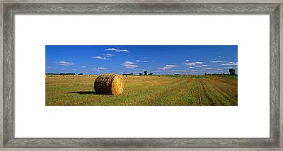 Hay Bales, South Dakota, Usa Framed Print