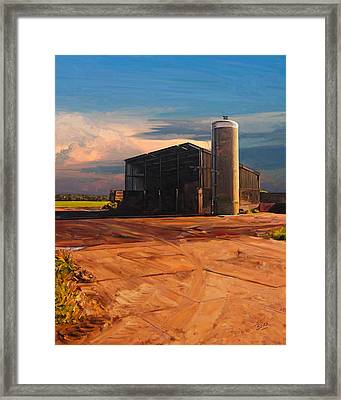 Framed Print featuring the painting Hay Barn In Vijfhuizen by Nop Briex