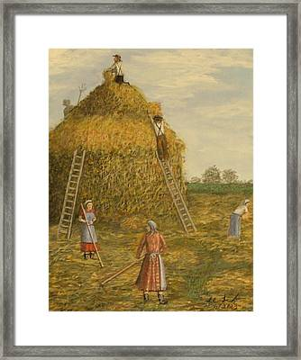 Hay Days. Framed Print by Larry Lamb