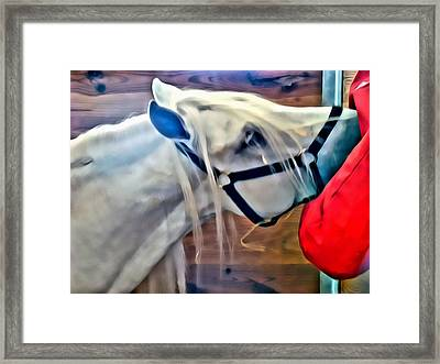 Hay For The White Horse Framed Print by Alice Gipson