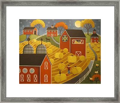 Hay Harvest Framed Print