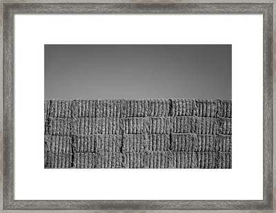 Hay Framed Print by Peter Tellone