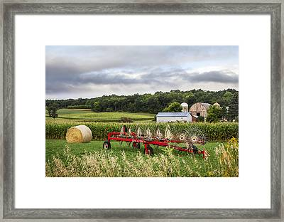 Hay Rake Rests Framed Print by Barbara Smith