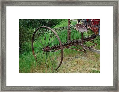 Hay Rake Framed Print by Ron Roberts