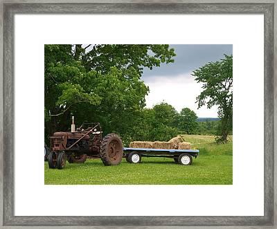 Hay Ride Framed Print by Jenessa Rahn