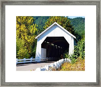 Hayden Covered Bridge Framed Print by Ansel Price