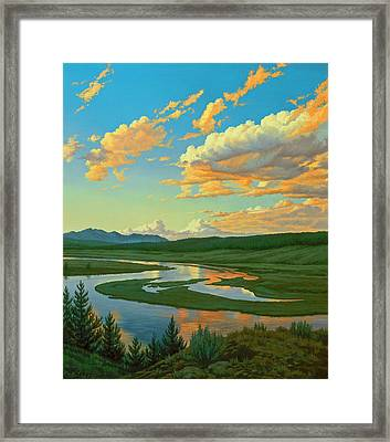 Hayden Valley Sunset Framed Print by Paul Krapf