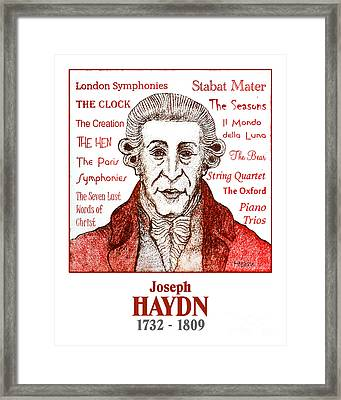 Haydn Framed Print by Paul Helm