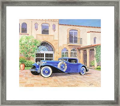 Automotive Fine Art  L-29 Cord Vintage Classicautomotive Art Sketch Rendering         Framed Print