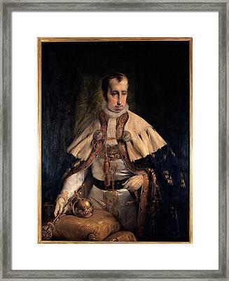 Hayez Francesco, Portrait Of Emperor Framed Print by Everett