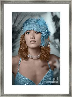 Hayley Blue Framed Print by Donald Davis