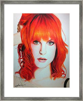 Hayley Williams Framed Print by Kim D Roberts