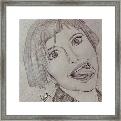 Hayley Williams Pencil Sketch. Framed Print by Souvik