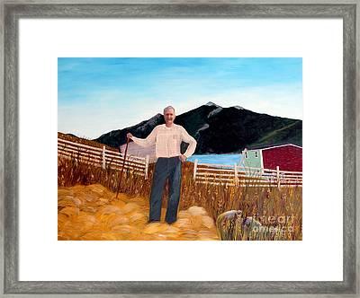 Haymaker With Pitchfork  Framed Print