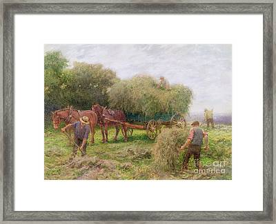 Haymaking Framed Print by Arthur Hopkins
