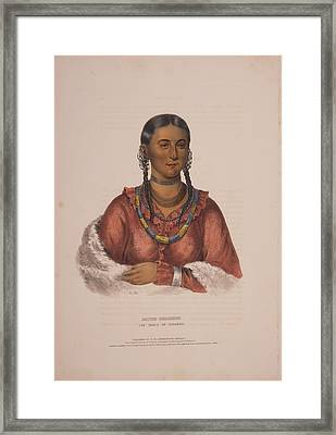 Hayne-hudjihini, The Eagle Of Delight  A.h.  Drawn, Printed Framed Print by Litz Collection