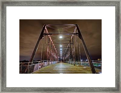 Hays Street Bridge At Night Framed Print