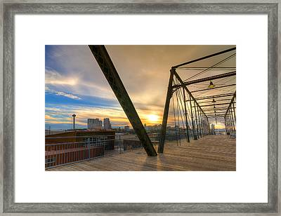 Hays Street Bridge At Sunset Framed Print