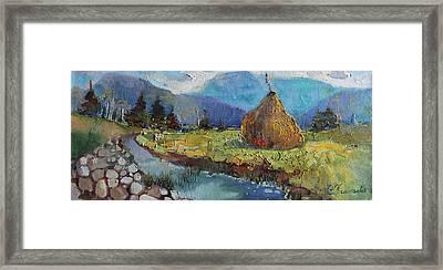 Haystack Framed Print by Anastasiia Grygorieva