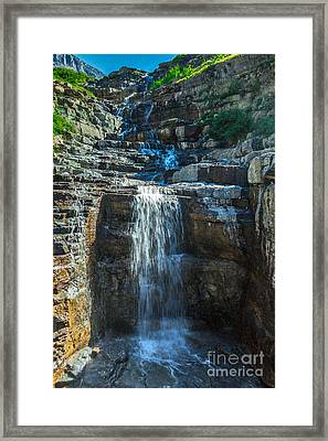 Haystack Falls Framed Print by Robert Bales