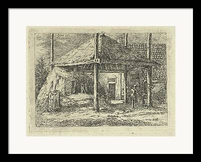 Farm Stand Drawings Framed Prints