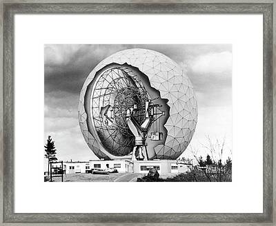 Haystack Microwave Research Facility Framed Print by Emilio Segre Visual Archives/american Institute Of Physics