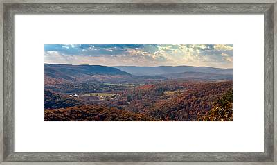 Haystack Mountain Tower View Framed Print