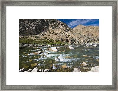 Haystack Rapids Framed Print