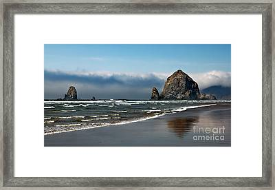 Haystack Framed Print by Robert Bales