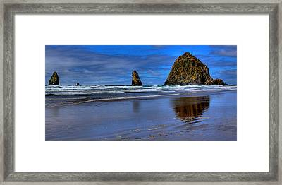 Haystack Rock And The Needles II Framed Print by David Patterson