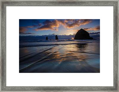 Haystack Rock And The Needles Framed Print
