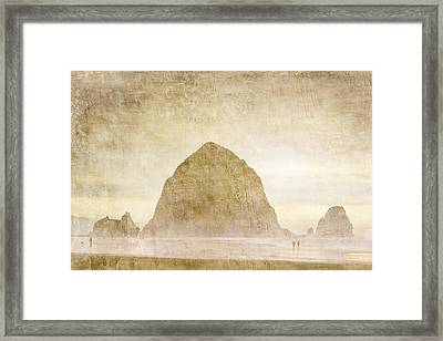 Haystack Rock Framed Print by Carol Leigh
