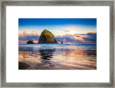 Haystack Rock Framed Print by Niels Nielsen