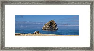 Haystack Rock - Pacific City Oregon Coast Framed Print